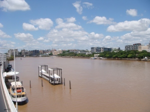The Main river running through Brisbane which cause such chaos to the city during the floods