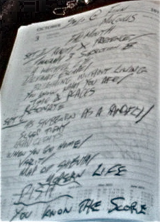 Finn McCoulls Setlist
