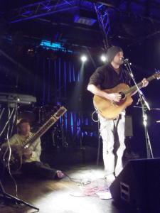 On Stage with Shinya Asakura on Sitar