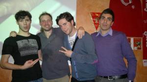 L -  R Andrea, Myself, Franscesco  and Silvio