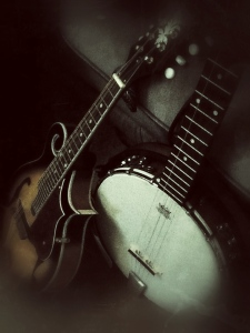 Studio shot 4 - Getting Folky with Mandolin and Banjo