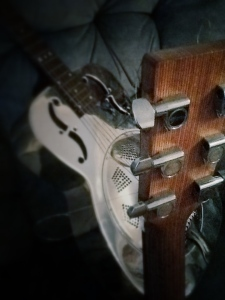 Studio Shot 1 - Resonator and Acoustic Guitar Taken by Chris Hollis