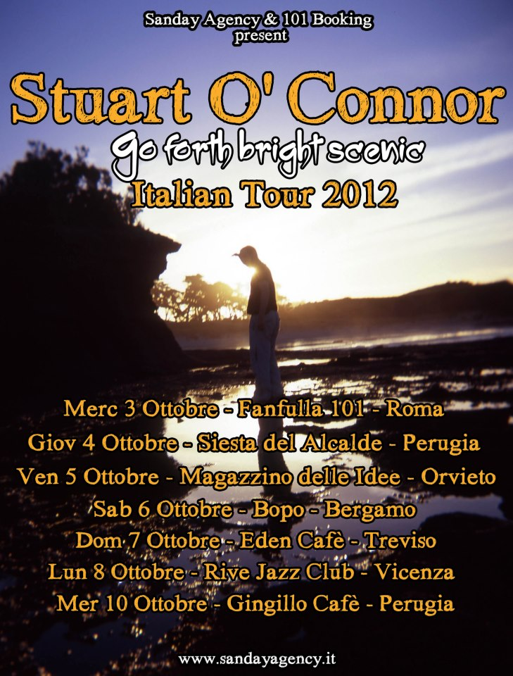 Stuart O'Connor Italy 'Go Forth Bright Scenic' Tour poster 2012