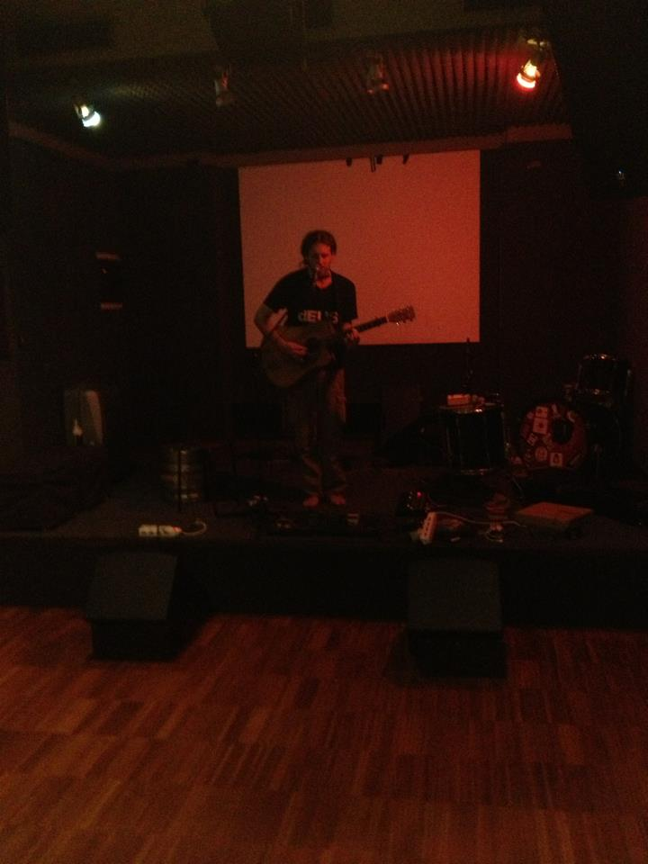 Soundchecking in Rome - I was soooo tired I was starting to lose perspective of reality