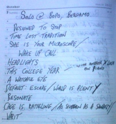Bopo - Setlist