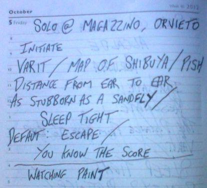 Magazzino - Setlist