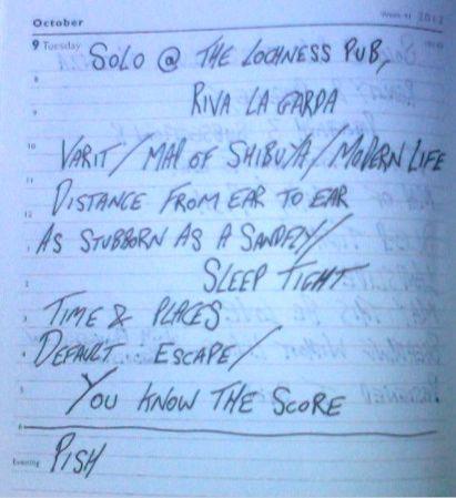 The Lochness Pub - Setlist
