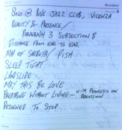 Rive Jazz Club - Setlist - Notice the Jimi Hendrix Cover (May This Be Love)