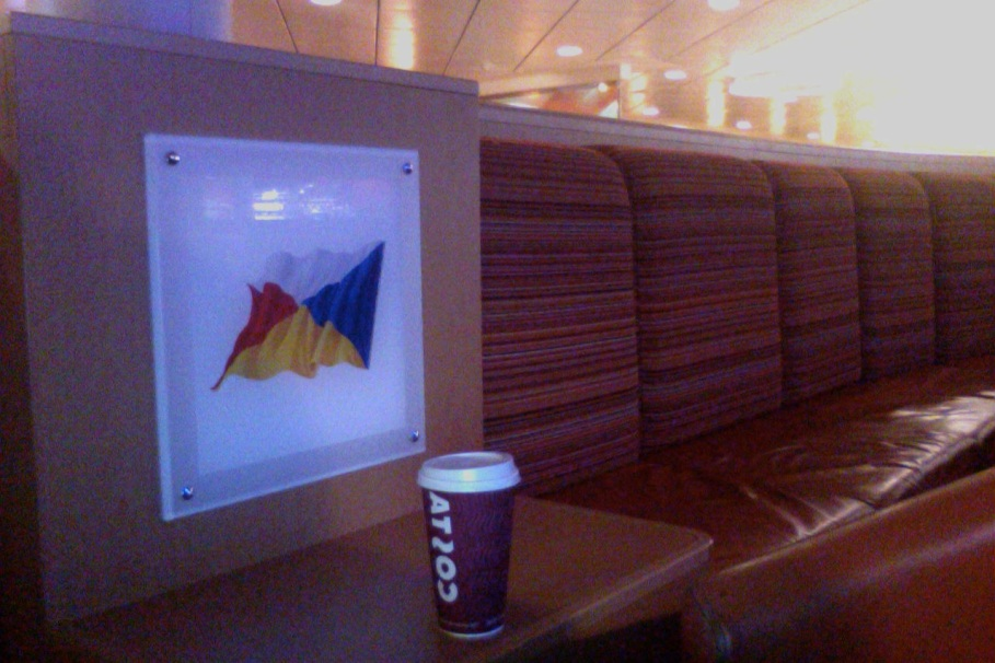 A Coffee on the Ferry at 1am last night.