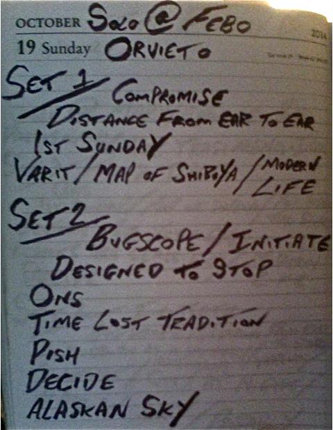 Febo - Orvieto Setlist.
