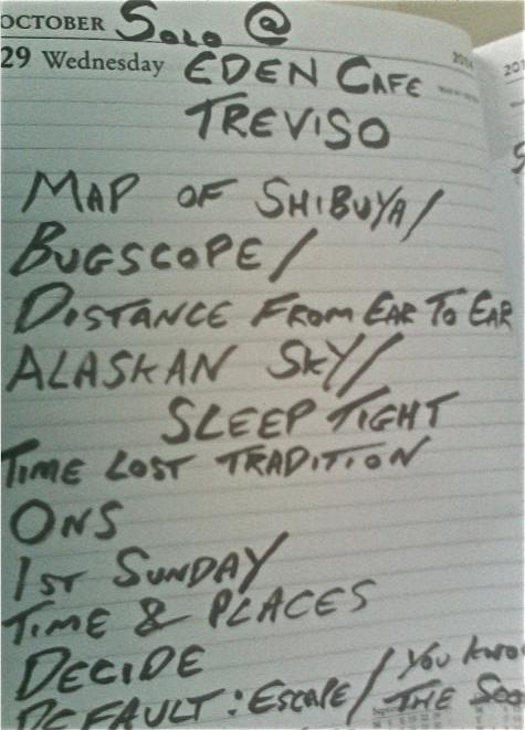 Treviso Setlist