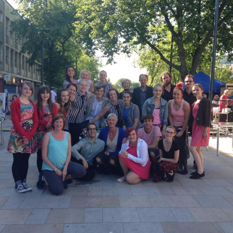 With the cast of the dance performance in Watford  - June 2014.