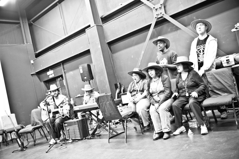 During rehearsals (L 2 R - Myself,
