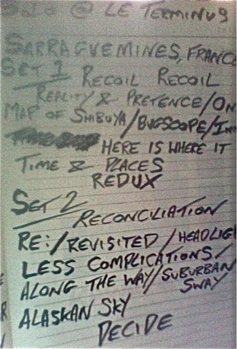 Le Terminus Setlist 11/7/15