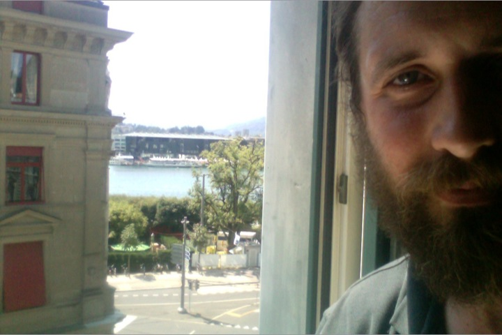 A rare selfie - Overlooking the Lake from my hotel room.