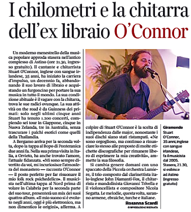 Taken From the Corriere della Sera di Bergamo