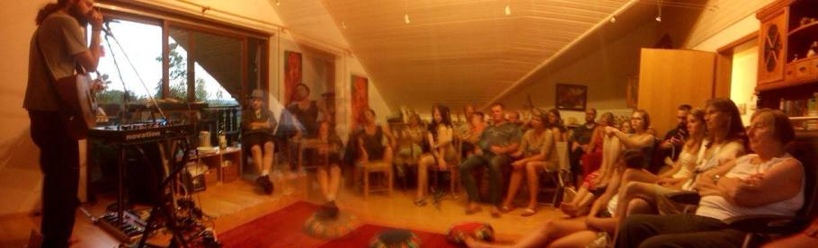 Playing a House Concert in Markdorff - Germany. Photo taken by Nadine Carolin.
