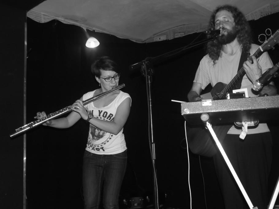 On stage in Raciborz, Poland with Zuzia