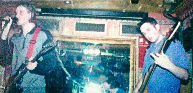 Onstage with Richard at the Trinity Bar, Harrow, London - Late 2000